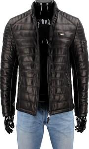 Czarna kurtka Dorjan w stylu casual z satyny