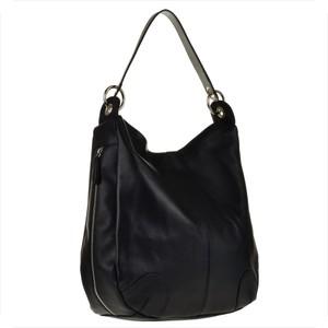 Czarna torebka real leather ze skóry