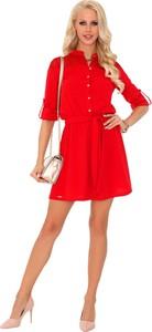 Sukienka MERRIBEL trapezowa z długim rękawem mini