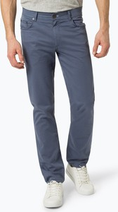 Niebieskie spodnie Brax w stylu casual z bawełny