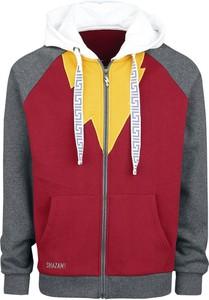 Czerwona bluza Justice League z bawełny w młodzieżowym stylu