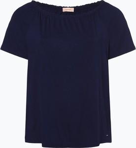 Miętowy t-shirt Triangle z okrągłym dekoltem w stylu casual