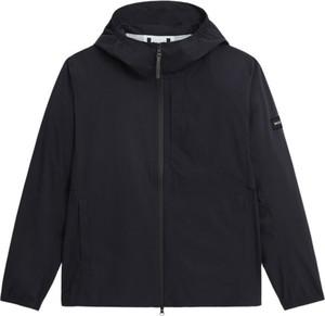 Czarna kurtka Woolrich krótka w stylu casual