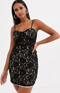 Czarna sukienka Love & Other Things z dekoltem w kształcie litery v