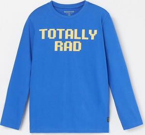 Niebieska koszulka dziecięca Reserved z bawełny