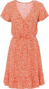 Sukienka bonprix w stylu casual z dekoltem w kształcie litery v mini
