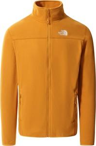 Pomarańczowa bluza The North Face w sportowym stylu z polaru