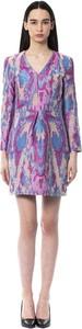 Fioletowa sukienka Byblos z długim rękawem mini