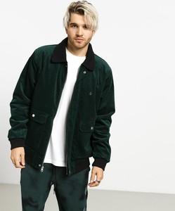 Zielona kurtka Volcom ze sztruksu w stylu casual