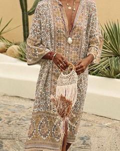 Sukienka Kendallme w stylu boho z szyfonu oversize
