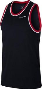 Czarny t-shirt Nike z krótkim rękawem z dżerseju w sportowym stylu