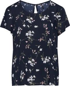 Granatowa bluzka Only z krótkim rękawem w stylu casual