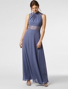 Niebieska sukienka VM maxi z szyfonu