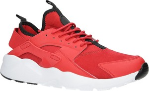 Czerwone buty sportowe Casu sznurowane