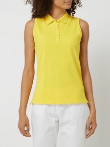 Żółta bluzka Montego z okrągłym dekoltem w stylu casual