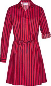 Różowa sukienka bonprix bpc selection z długim rękawem w stylu casual