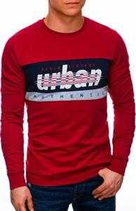 Czerwona bluza Edoti z bawełny