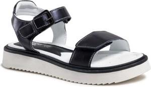 Granatowe buty dziecięce letnie Lasocki Young ze skóry