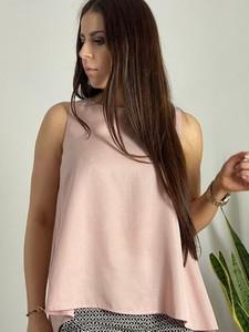 Różowa bluzka Biancaloren.pl z golfem
