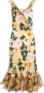 Sukienka Dolce & Gabbana w stylu boho z dekoltem w kształcie litery v