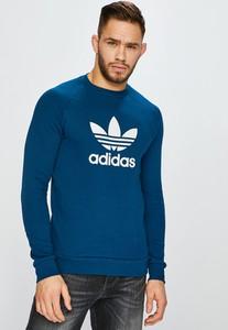 Turkusowa bluza Adidas Originals z dzianiny