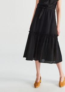 Czarna spódnica Reserved midi w stylu boho