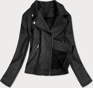 Czarna kurtka Goodlookin.pl z zamszu krótka w rockowym stylu