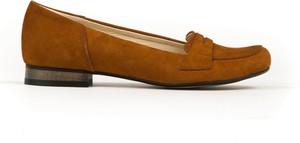 Baleriny Zapato z płaską podeszwą w stylu vintage z zamszu