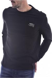 Czarny t-shirt Guess w stylu casual z długim rękawem