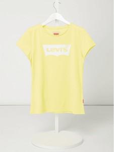 Żółta bluzka dziecięca Levis Kids z bawełny