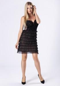 Sukienka Ptakmoda.com na ramiączkach dopasowana