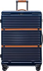 Niebieska walizka PUCCINI ze skóry ekologicznej