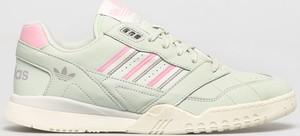 Zielone buty sportowe Adidas Originals ze skóry