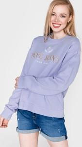 Bluza Pepe Jeans w młodzieżowym stylu z bawełny krótka