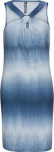 Błękitna sukienka bonprix RAINBOW bez rękawów mini