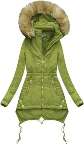 Zielona kurtka Go-Start długa w stylu casual