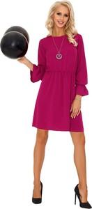 Różowa sukienka MERRIBEL z długim rękawem