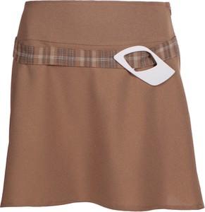 Brązowa spódnica Fokus w stylu casual mini