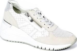 Buty sportowe Marco Tozzi sznurowane w sportowym stylu ze skóry ekologicznej