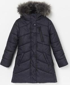 Granatowy płaszcz dziecięcy Reserved