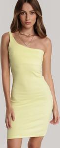 Żółta sukienka Renee na ramiączkach dopasowana mini