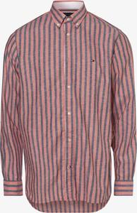Czerwona koszula Tommy Hilfiger z bawełny z długim rękawem