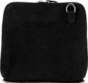Czarna torebka VITTORIA GOTTI z zamszu w stylu casual