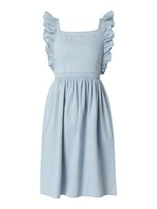Sukienka NA-KD z dekoltem w karo z bawełny bez rękawów