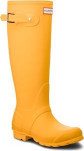 Żółte kalosze Hunter wysokie