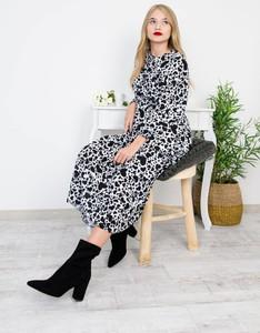 Sukienka Olika maxi z długim rękawem
