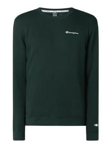 Zielona bluza Champion z nadrukiem z bawełny