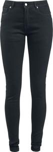 Czarne jeansy Forplay w street stylu z bawełny