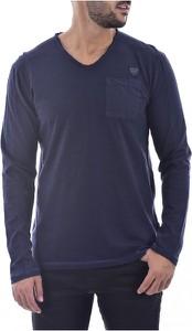 Niebieska koszulka z długim rękawem Kaporal z bawełny z długim rękawem