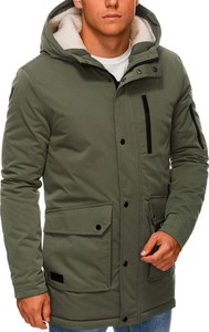 Zielona kurtka Ombre w stylu casual